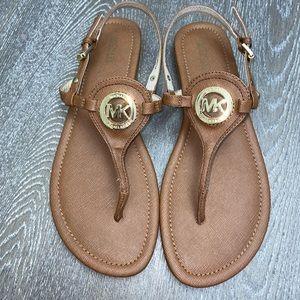 Michael Kors Flat Sandals Brown Color Size 9.5M